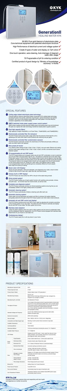 kyk genesis water ionizer water ionizer machine alkaline water filter system
