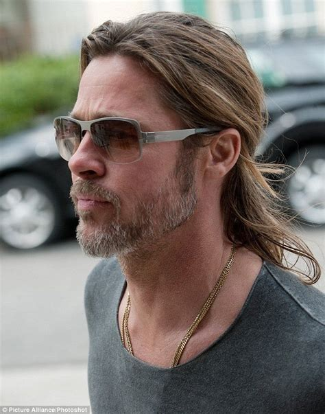 brad pitt natural hair brad pitt natural hair brad pitt looking dreamy with