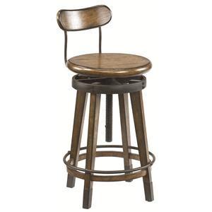 hammary bar stools hammary studio home urban weathered oak swivel adjustable
