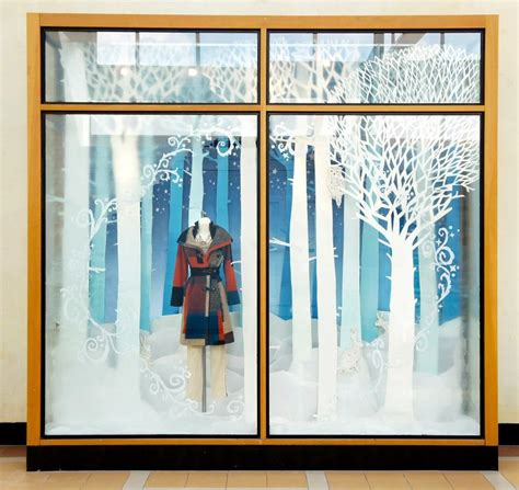 window display ideas snow window display anthropologie snow forest