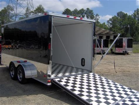 C Trailer Awnings by 7x16 Enclosed Motorcycle Cargo Trailer A C Unit W Awning