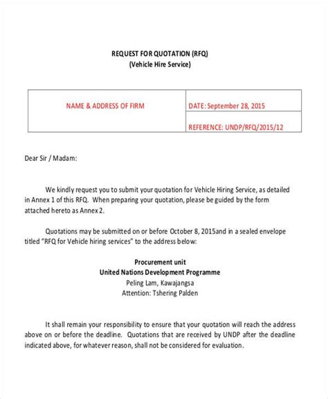 Request Letter Vehicle 27 Sle Quotation Letters