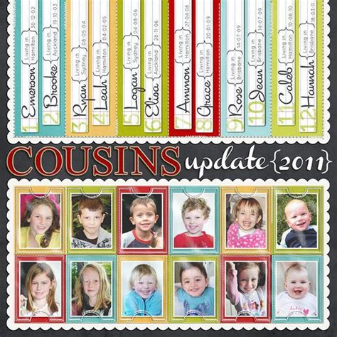 scrapbook layout cousins cousins my cousin and scrapbook on pinterest