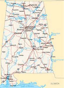 united states map alabama largest cities map of alabama