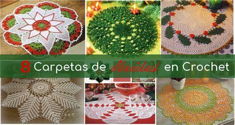 20 patrones de carpetas tejidas coleccion de los viernes 8 carpetas de navidad tejidas en crochet manualidades y