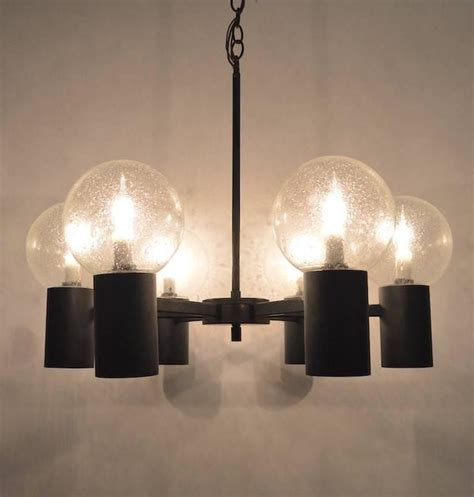 Can Light Chandelier Six Light Spoke And Can Lightolier Chandelier For Sale At 1stdibs