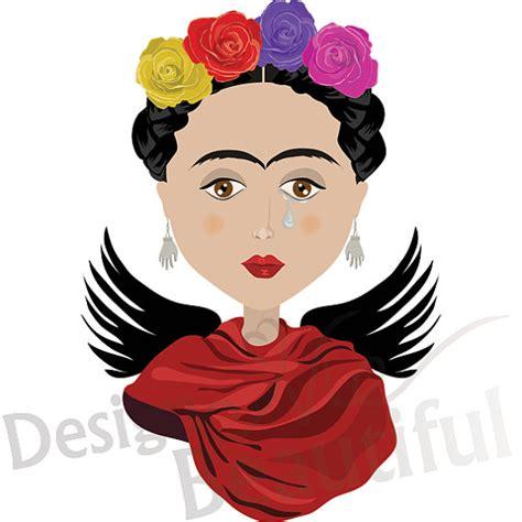 Frida Kahlo Clipart items similar to frida kahlo portrait clip digital illustration jpeg png personal and