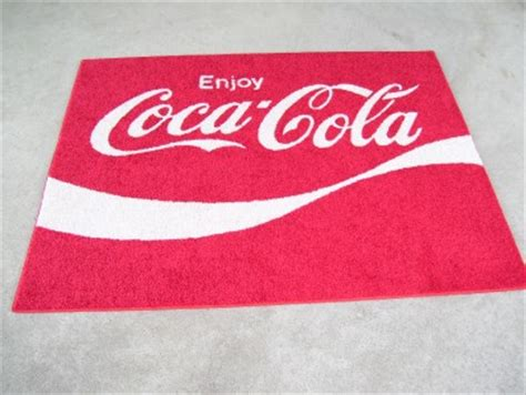 coca cola rug custom coke enjoy coca cola 70s logo 4 x5 area rug 30 oz shaw carpet ebay