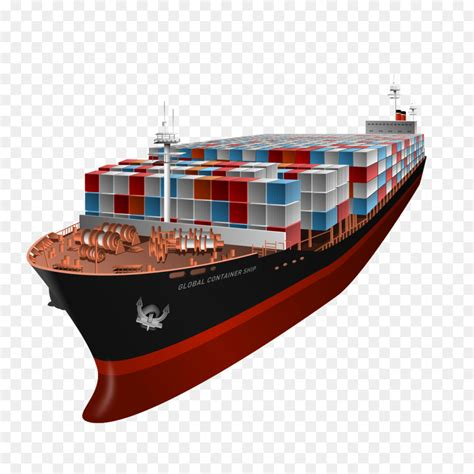 cartoon red boat panamax boat cargo watercraft cartoon red boat png