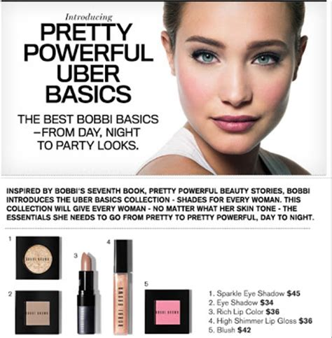 bobbi browns pretty powerful rouge deluxe bobbi brown pretty powerful uber basics