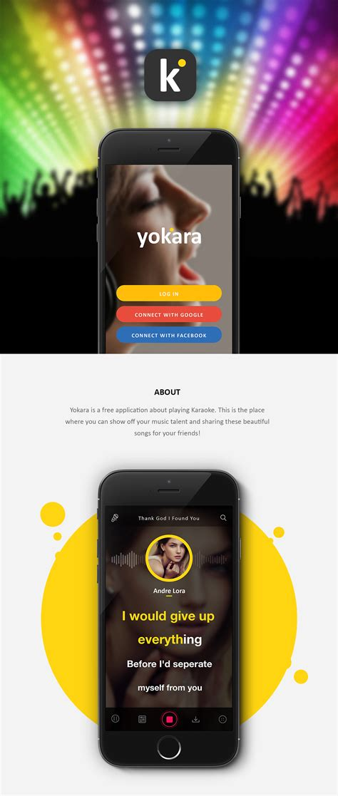 design karaoke app yokara karaoke app on app design served