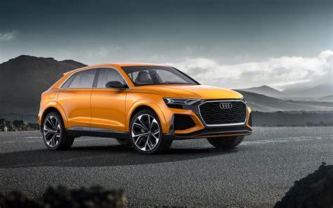orange sports cars audi q8 sports car 2018 orange hd wallpapers top