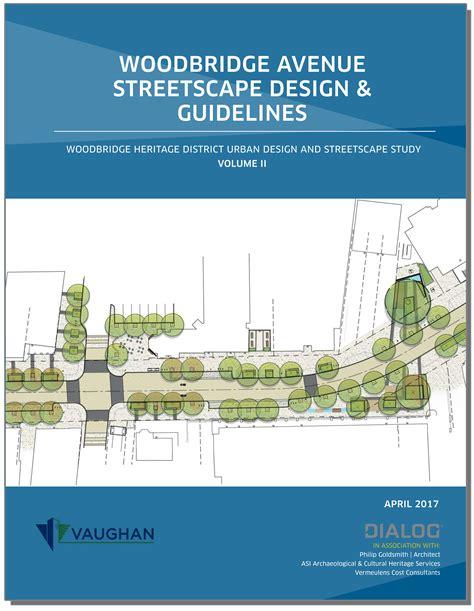 urban design guidelines heritage woodbridge urban design guidelines and streetscape plan