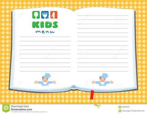 free kids menu templates artist cover letters