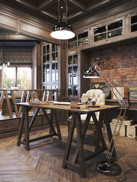 Home Office Ideas Rustic 25 Awesome Rustic Home Office Designs Office Designs