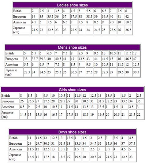 shoe size chart european shoe size chart womens