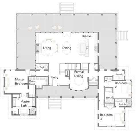 Open Floor Plan Farmhouse by Best 25 Open Floor Plans Ideas On Pinterest