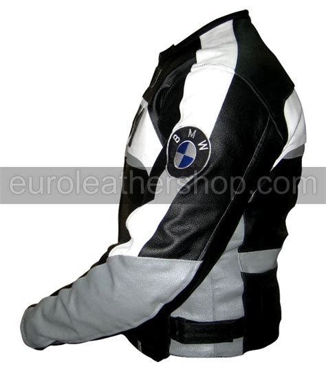 Bmw Motorrad Quilted Jacket by Bmw Motorrad Leather Jacket In Black White Grey Colour