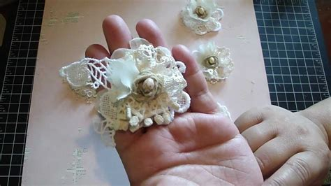 How To Make A Handmade - vintage handmade flower using your lace remains