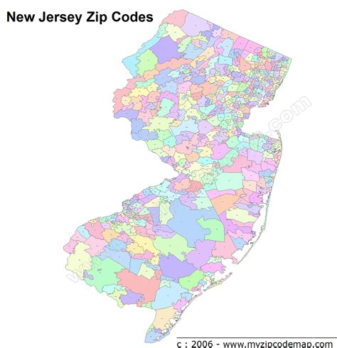 us area code new jersey new jersey zip code maps free new jersey zip code maps