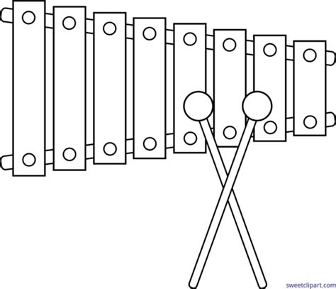 coloring pages of xylophone xylophone clipart black and white clipartxtras