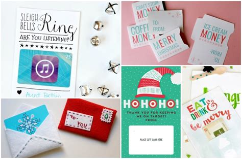 Cool Gift Card Designs - dozens of thoughtful last minute gift ideas for christmas
