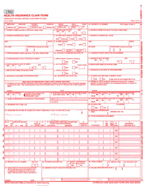free cms 1500 claim form template new 02 12 cms 1500 form