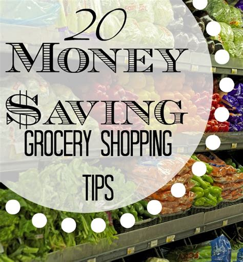 save time and money with these creative birthday party 20 money saving grocery shopping tips creative home keeper