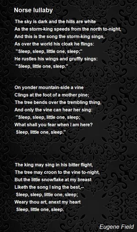 norse lullaby poem  eugene field poem hunter comments