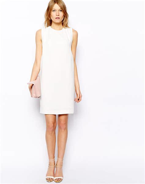 Manggo Dress mango pleat detail dress in white lyst