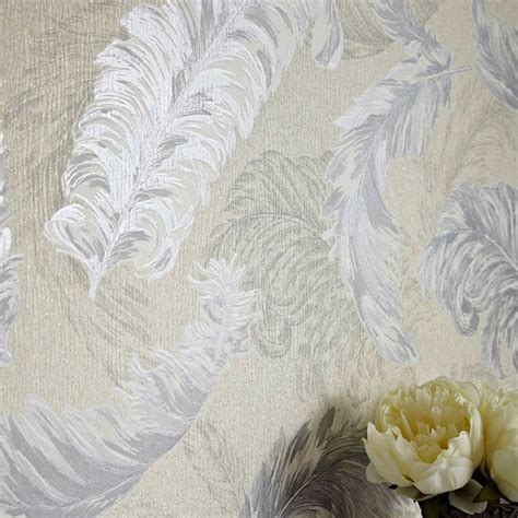 glitter wallpaper graham and brown graham brown gilded feather pattern glitter motif