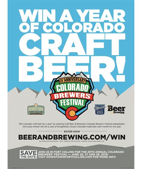 Missouri Sweepstakes - win colorado craft beer for a year by entering craft beer brewing s colorado
