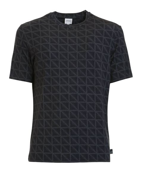 geometric pattern shirts geometric pattern t shirt by armani collezioni t shirts