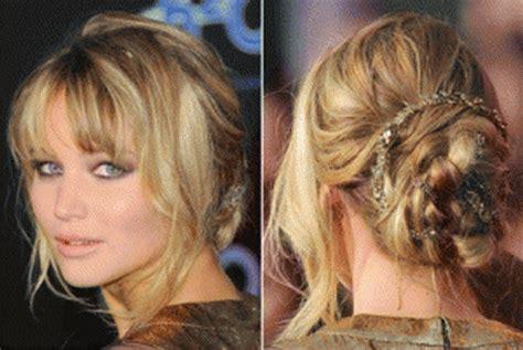 hambre hairstyles peinados con flequillo recogido