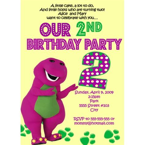barney invitation template 40th birthday ideas barney birthday invitation templates