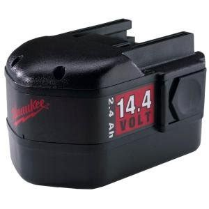Nicad Battery Power Pack Lu Led milwaukee tool nicad power plus 14 4 volt rechargeable battery 48 11 1024 homelectrical