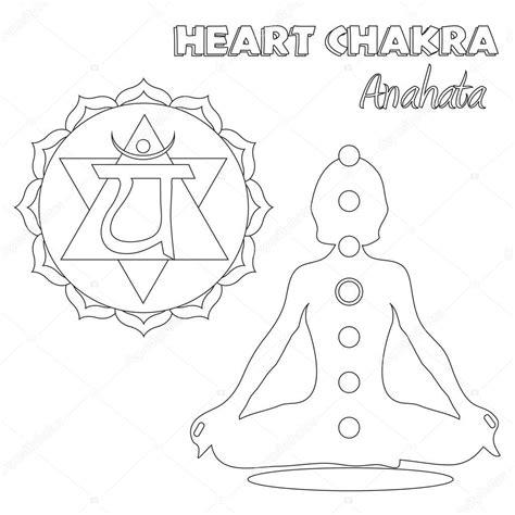 heart chakra coloring page hj 228 rta chakra m 229 larbok stockfotografi 169 smk0473 129215256