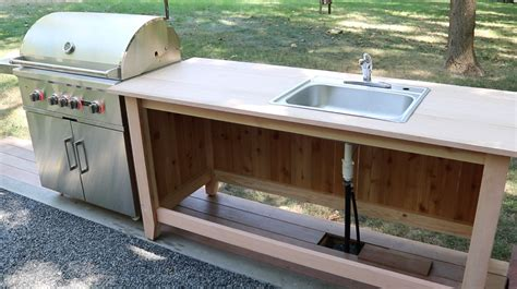 how to make outdoor kitchen build an outdoor kitchen cabinet countertop with sink