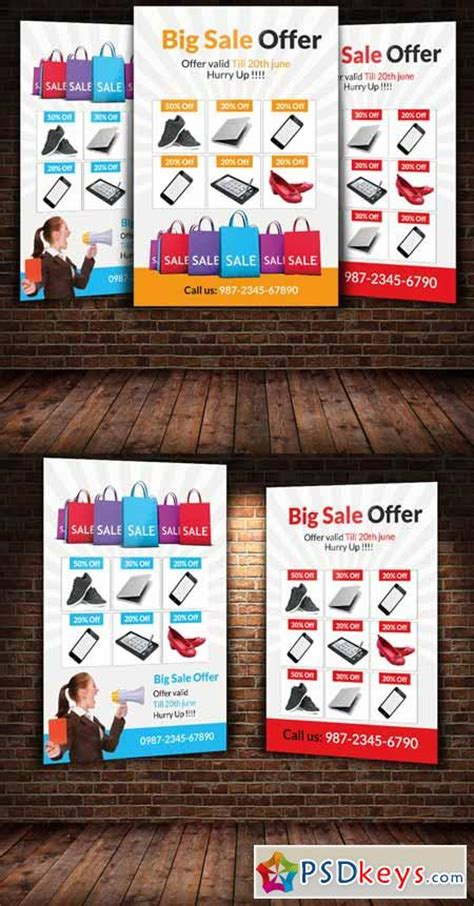 photoshop templates for sale big sale offer flyer template 251096 187 free download