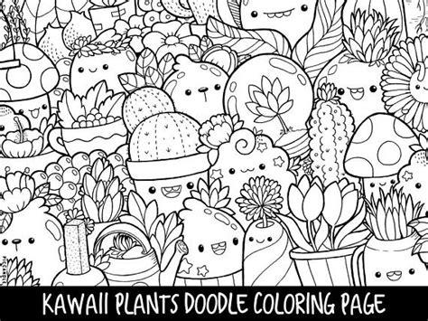 kawaii emu coloring page free printable coloring pages plants doodle coloring page printable cute kawaii coloring