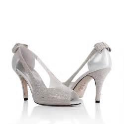 wedding shoes heels peep toe mid heel rhinestone bowk grey wedding bridal shoes flowerweddingshoes