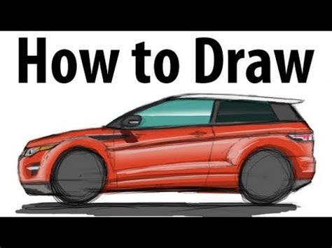 range rover evoque drawing how to draw a range rover evoque sketch it quick youtube