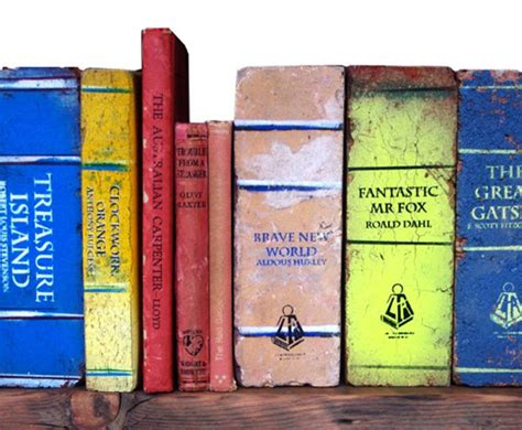 brick a novel book bricks for the best bookends abebooks reading