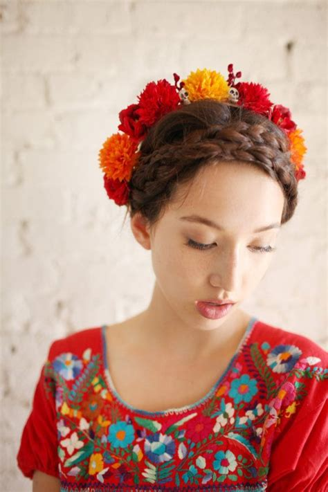 how to do mexican hairstyles traditional mexican hairstyles with flowers hair