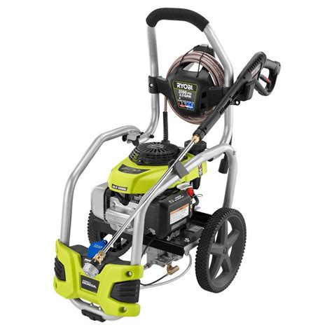 ryobi 3100 psi 2 5 gpm honda gas pressure washer with idle