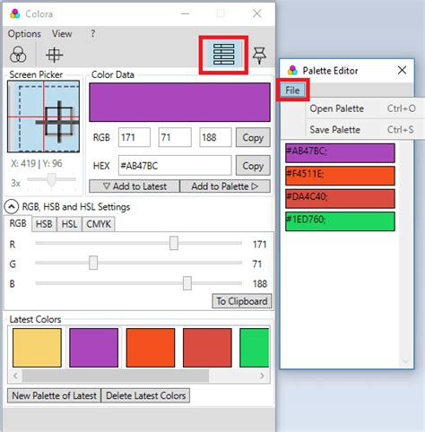 color palette creator free color converter software with color picker and color