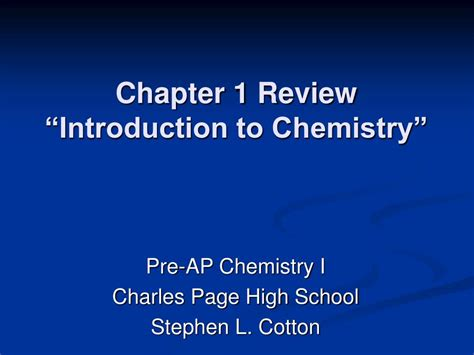 chapter ppt ppt chapter 1 review introduction to chemistry powerpoint presentation id 403553