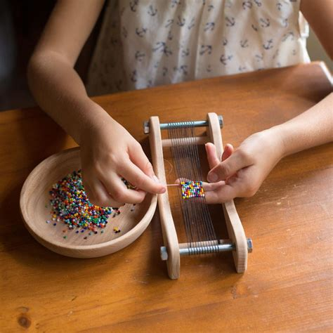 how to bead loom bead weaving loom toys crafts