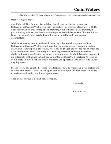 emergency management cover letter service center technician cover letter exles