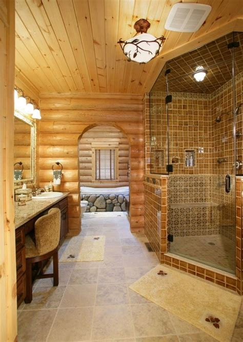 log bathroom 30 warm and cozy log bathroom design ideas